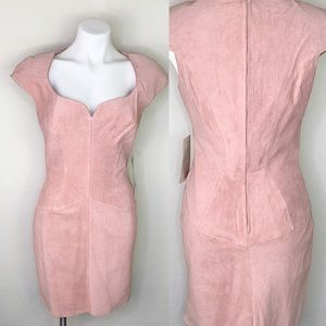 VTG Wilson's Leather suede body con dress